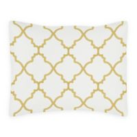 Sweet Jojo Designs Trellis Standard Pillow Sham in White/Gold