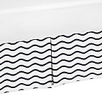 Sweet Jojo Designs Chevron Wave Crib Skirt in Navy Blue/White