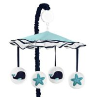 Sweet Jojo Designs Whale Musical Mobile in Blue/White