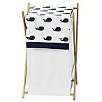 Sweet Jojo Designs Whale Laundry Hamper in Blue/White