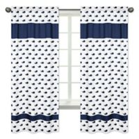 Sweet Jojo Designs Mini Whale 84-Inch Window Panels in Blue/White (Set of 2)