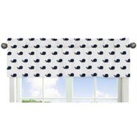Sweet Jojo Designs Whale Window Valance in Blue/White