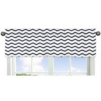 Sweet Jojo Designs Whale Chevron Wave Print Window Valance in Blue/White