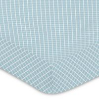 Sweet Jojo Designs Woodland Toile Lattice Print Fitted Crib Sheet in Blue