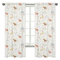 Sweet Jojo Designs Woodland Toile 84-Inch Animal Print Window Panels (Set of 2)