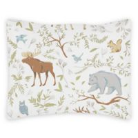 Sweet Jojo Designs Woodland Toile Reversible Standard Pillow Sham
