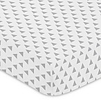 Sweet Jojo Designs Woodsy Triangle Print Fitted Crib Sheet in Grey