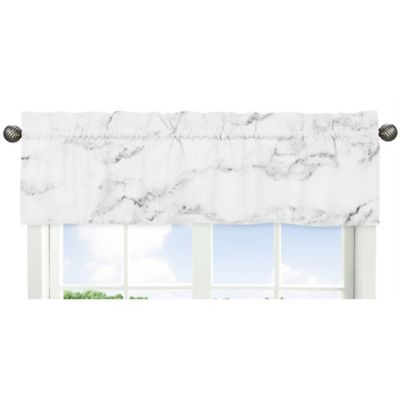 room decor u003e sweet jojo designs marble window valance in blackwhite