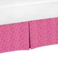 Sweet Jojo Designs Cowgirl Bandana Print Crib Skirt in Pink