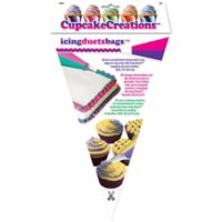 "Cupcake Creations 12"" Two-Compartment Icing Bags (Set of 20)"