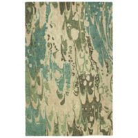 Kaleen Marble Plasma 8' x 11' Area Rug in Green