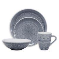 Euro Ceramica Fez 20-Piece Dinnerware Set in Grey