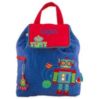 Stephen Joseph® Robot Quilted Backpack in Blue
