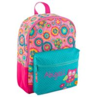 Stephen Joseph® Owl Allover Print Quilted Rucksack in Pink
