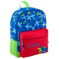 Stephen Joseph® Airplane Allover Print Quilted Rucksack in Blue