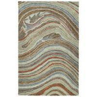 Kaleen Marble Mounds 2' x 3' Accent Rug in Grey