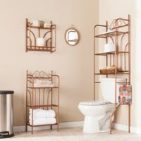 Southern Enterprises 3-Piece Scroll Bath Set in Warm Copper
