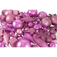 Northlight 125-Pack Christmas Ball Ornaments in Pink