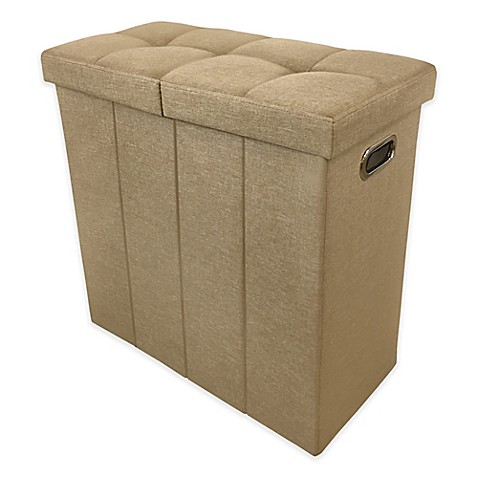 Ginsey Foldable Tufted Hamper Seat - Bed Bath & Beyond