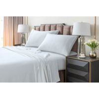 Tribeca Living 220 GSM Solid Flannel Twin XL Sheet Set in White