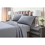 Tribeca Living 220 GSM Solid Flannel Queen Sheet Set in Grey