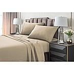 Tribeca Living 220 GSM Solid Flannel King Sheet Set in Sand