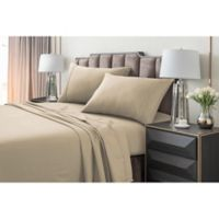 Tribeca Living 220 GSM Solid Flannel Twin Sheet Set in Sand