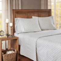 True North by Sleep Philosophy Cozy Geo Flannel California King Sheet Set in Grey