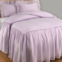 Wamsutta® Vintage Skirted Full Bedspread in Lilac