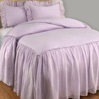 Wamsutta® Vintage Skirted King Bedspread in Lilac