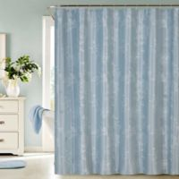 Dainty Home Clara Embroidered Shower Curtain in Blue