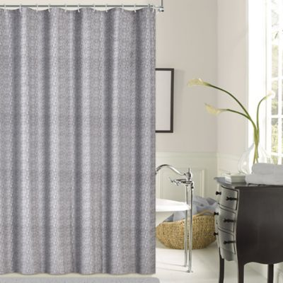 Dainty Home Kingston Shower Curtain in Silver