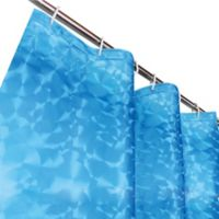 Dainty Home Sphere 3D Shower Curtain in Blue
