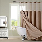 Dainty Home Complete Shower Curtain in Mocha