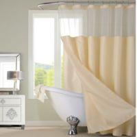 Dainty Home Complete Shower Curtain in Ivory