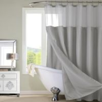 Dainty Home Complete Shower Curtain in Grey