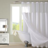 Dainty Home Complete Shower Curtain in White