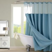 Dainty Home Complete Shower Curtain in Aqua