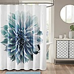 Madison Park Norah Cotton Percale Shower Curtain in Aqua