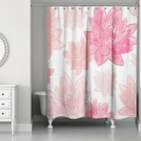 Designs Direct Blush Florals Shower Curtain In Pink