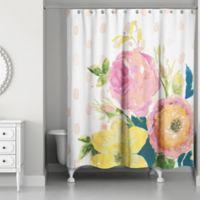Buy flower shower curtain bed bath beyond designs direct confetti flowers shower curtain in pink mightylinksfo