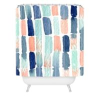 Deny Designs 72-Inch x 69-Inch Social Proper Timing Is Everything Shower Curtain in Blue