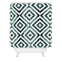 Deny Designs 72-Inch x 69-Inch Little Arrow Design Co Diamonds Shower Curtain in Blue