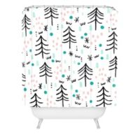 Deny Designs Winter Wander Standard Shower Curtain in Blue
