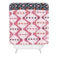 Deny Designs Zoe Wodarz 72-Inch x 69-Inch The Beat Goes On Shower Curtain in Pink