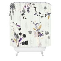 Deny Designs Woodland Dreams 72-Inch Wide Shower Curtain in White