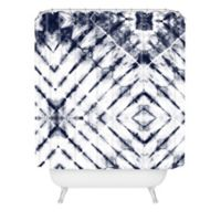 Deny Designs Little Arrow Design Co 72-Inch x 69-Inch Shibori Shower Curtain in Blue