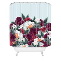 Deny Designs Iveta Abolina English Rose Shower Curtain in Blue