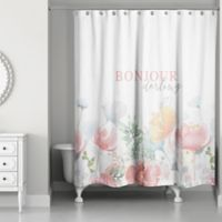 Design Direct Bonjour Darling 74-Inch x 71-Inch Shower Curtain