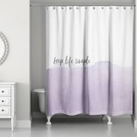 Designs Direct Keep Life Simple 74-Inch x 71-Inch Shower Curtain in Purple